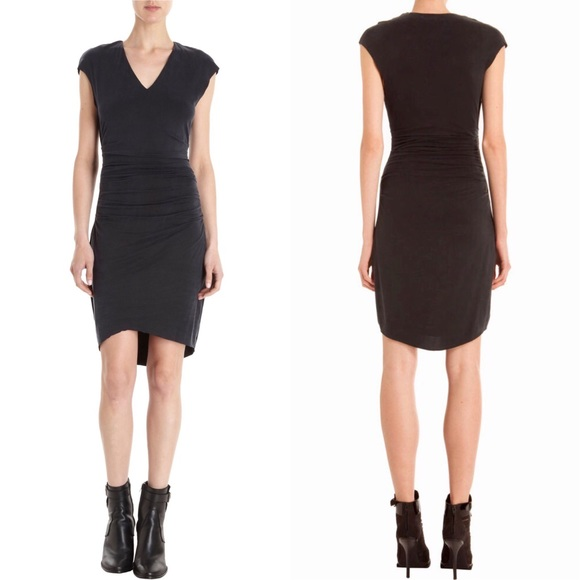 ed31d90b2 Helmut Lang Dresses & Skirts - Helmut Lang 'Torrent' Washed-Black Ruched  Dress